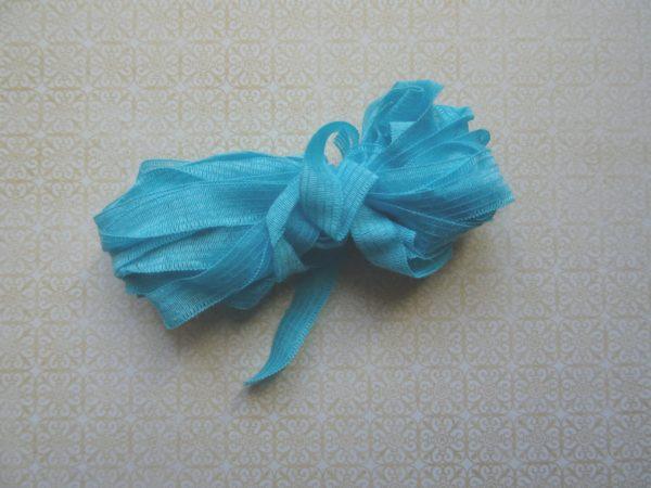 Fil fantaisie, ruban, proche du turquoise