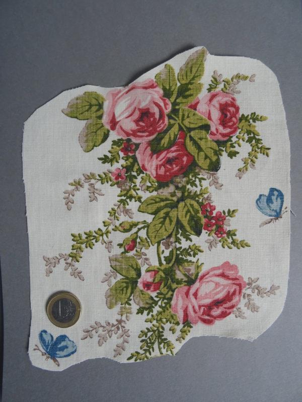 Bouquet roses vintage à broder