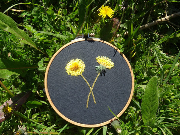 Kit Fleur de pissenlit nécessaire pour broder les pissenlits du tuto