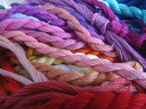 échevettes de fils de coton