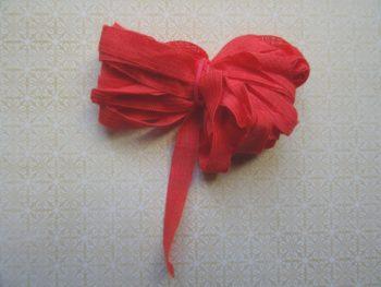 Fil ruban orange rouge