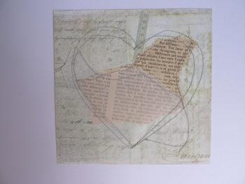 Fond papier coeur pour broderie d'embellissement