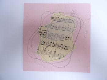 Fond rose et musique